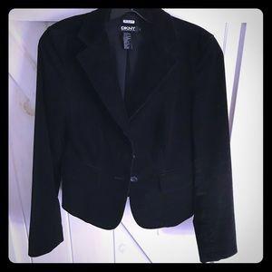 DKNY Black Velvet Lined Blazer