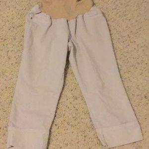 Pants - Maternity tan Capri