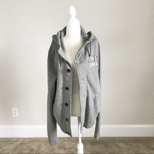 Abercrombie and Fitch Grey Hoodie
