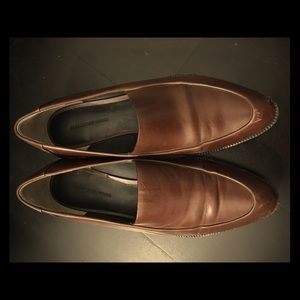Alexander Wang Brown Leather Loafers shoes Size 37