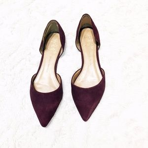 Banana Republic Maroon Suede Pointed Toe Flats