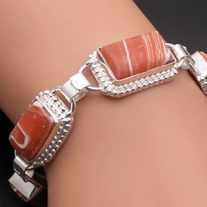 Jewelry - Beautiful Howlite Sterling Silver 925 Bracelet