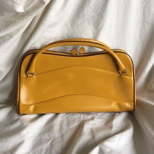 Prada Yellow Ochre Handbag Vintage Rare Pre-owned