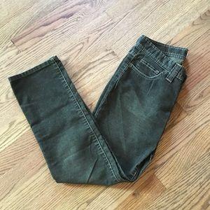 Joie Straight Leg Corduroy Green Size 27