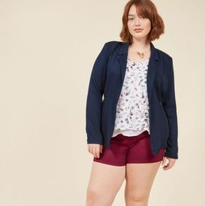 With stylish sincerity drape blazer, Modcloth