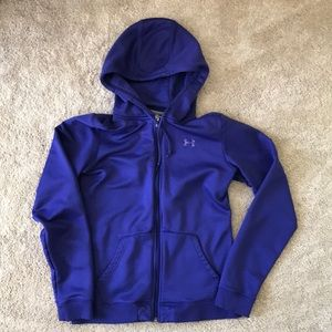 Under Armour purple zip up hoodie