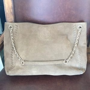 Tory Burch Marion Suede Chain Shoulder Bag