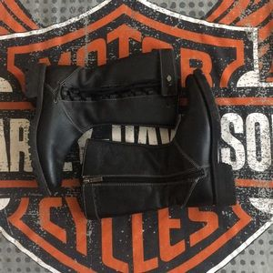Ladies Sz 7.5 Harley Davidson over the calf boots