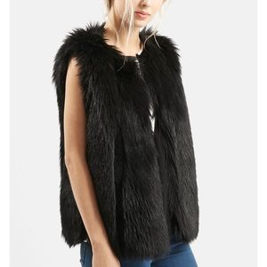 Top shop back fur vest