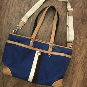COACH Voyager Blue Diaper Bag Travel Tote