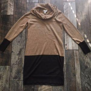 Women's Small LOFT color block sweater dress