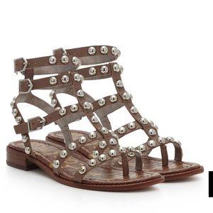 BRAND NEW sam Edelman studded tan sandal