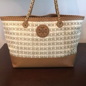 ⭐️TORY BURCH LARGE SHOULDER TOTE 💯AUTHENTIC