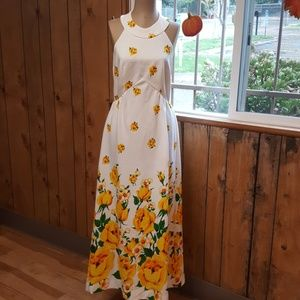 Vintage Halter Neck Maxi Dress Super Cute