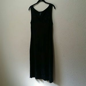 BCBG MaxAzaria Black Full Length Party Dress