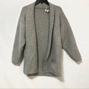 Vintage Cardigan Coat Angora Rabbit Hair Lambswool