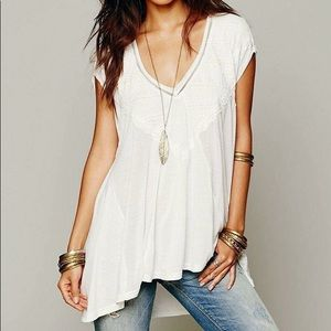 NWT Free People Abigail Tunic in Ivory Sz Xsmall