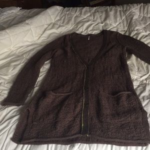 Long brown Free People sweater