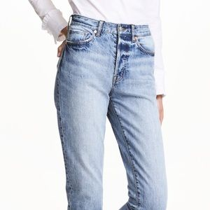 Vintage Fit Cropped High Waist Jeans