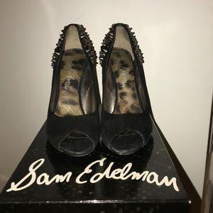 Sam Edelman Studded Heel Peep Toe