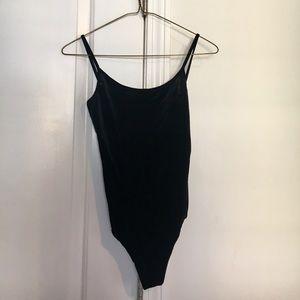 Brandy Melville Black Velvet Bodysuit