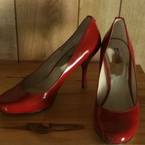 "Michael Kors  3 3/4"" Red Heels Shoes Sz 10M"