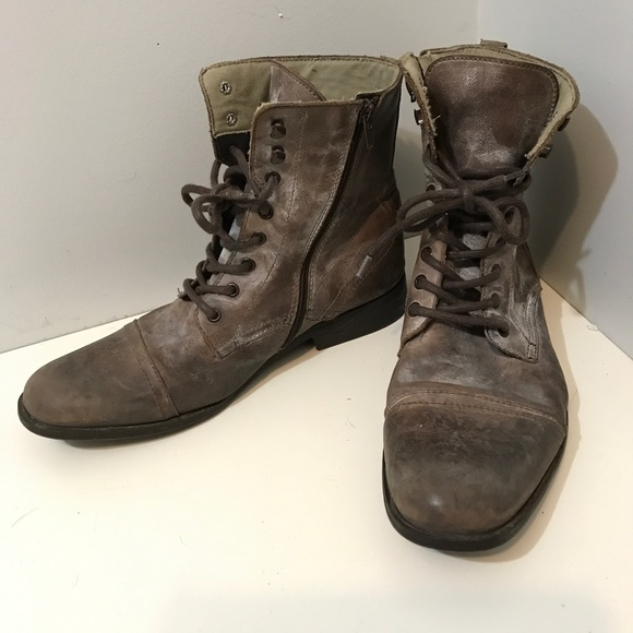00215145b0dd4 River Island Shoes | Mens Distressed Brown Combat Boots | Poshmark
