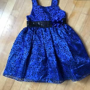 Blue Polka Dot Toddler Dress 4T