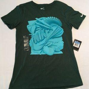 NEW NWT NIKE T shirt Athletic Cut Green Women's