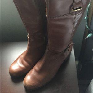 Bandolino Cognac Leather Boots