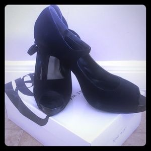 Black Suede Mary Janes