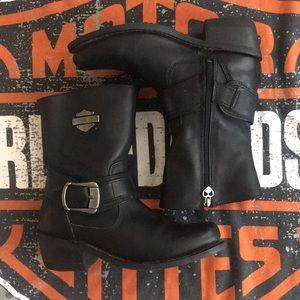 Ladies Sz 7.5 Harley Davidson boots, very GUC