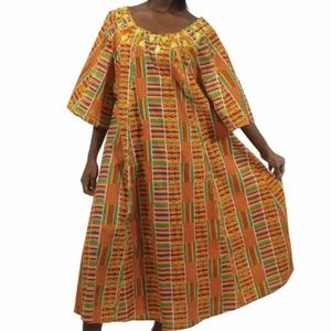 AFRICAN DASHIKI KENTE ANKARA PRINT DRESS