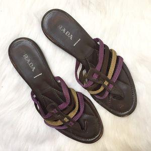Authentic Prada purple & brown strappy sandals