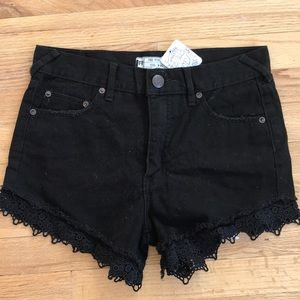 Free People jean shorts!