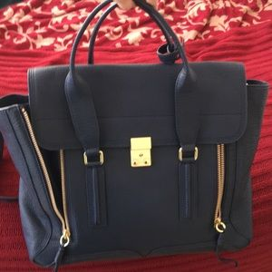 3.1 Phillip Lim Pashli Large Satchel in Ink