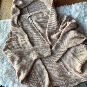 • free people • oversized hooded cardigan