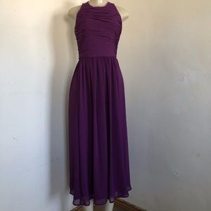 Alice + Olivia Runie Dress Purple T Strap Back NEW
