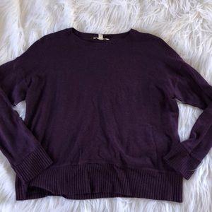 Eileen Fisher Purple Crewneck Soft Cozy Sweater