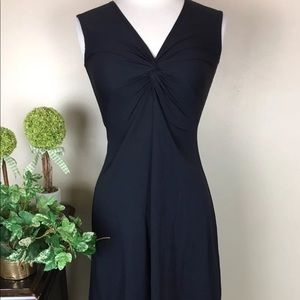 Patagonia Dress sleeveless Ruched Cinched Black