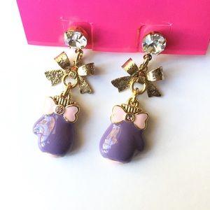 NWT Betsey Johnson rare boxing glove earrings
