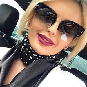 Giselle- Squared Ombre Chic Sunglasses