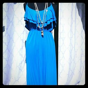 Turquoise maxi dress NWOT