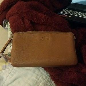 Coach Double Zipper Wristlet Wallet