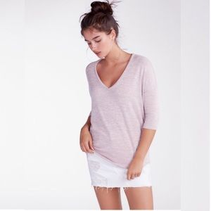 Express One Eleven London V-Neck Tunic Tee S Pink
