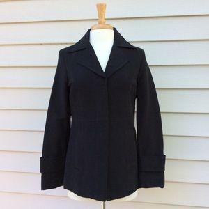 NWOT Merona Black Coat, Cotton Blend Size Small