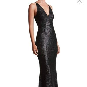 Black Dress the population sequins gown 💕