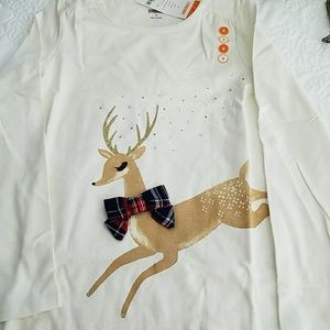 NWT Gymboree Top with Reindeer Size 8