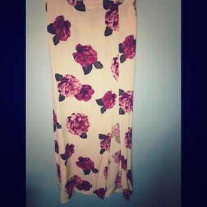 Beautiful Flower Maxi Skirt