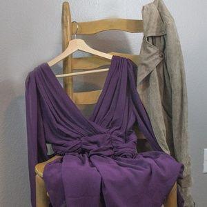 ASOS | flowy long sleeve purple dress